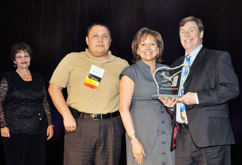 NM Gov. Martinez presents GRMC's QNM Roadrunner Recognition