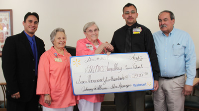 Wal-mart grant for the Auxiliary's GRCC Lunch Program